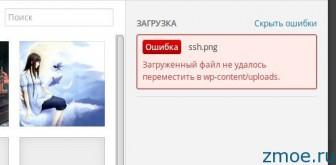 Загруженный файл не удалось переместить в wp-content/uploads