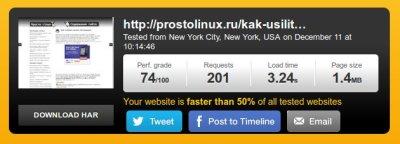 скорость сайта без кнопок
