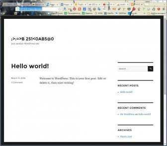 web сервер как запустить?